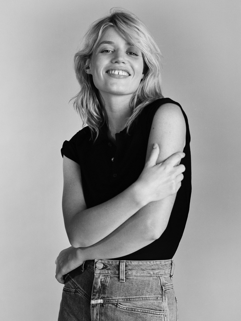 Georgia May Jagger flashes a smile in Closed fall 2020 campaign.