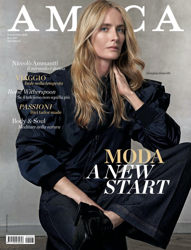 Georgina Grenville Poses in Fashion-Forward Looks for Amica