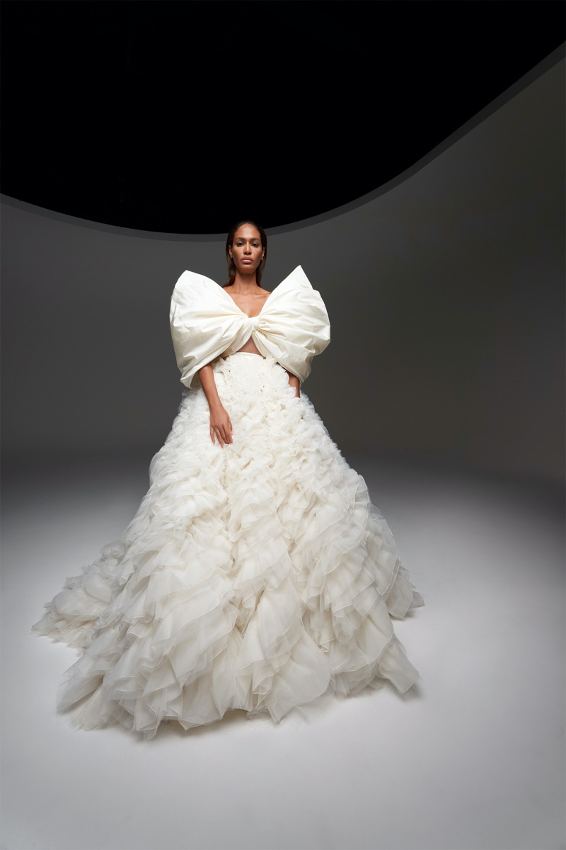 Joan Smalls Enchants in Giambattista Valli Fall 2020 Haute Couture Designs