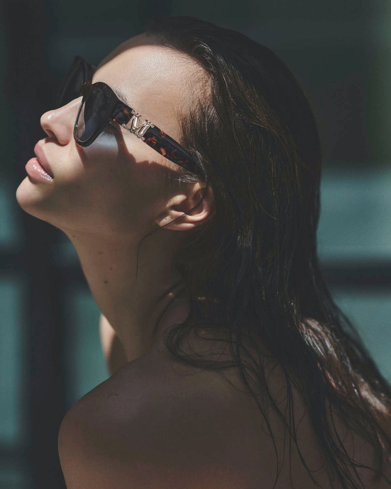 Supermodel Irina Shayk fronts Max Mara summer 2020 sunglasses campaign.