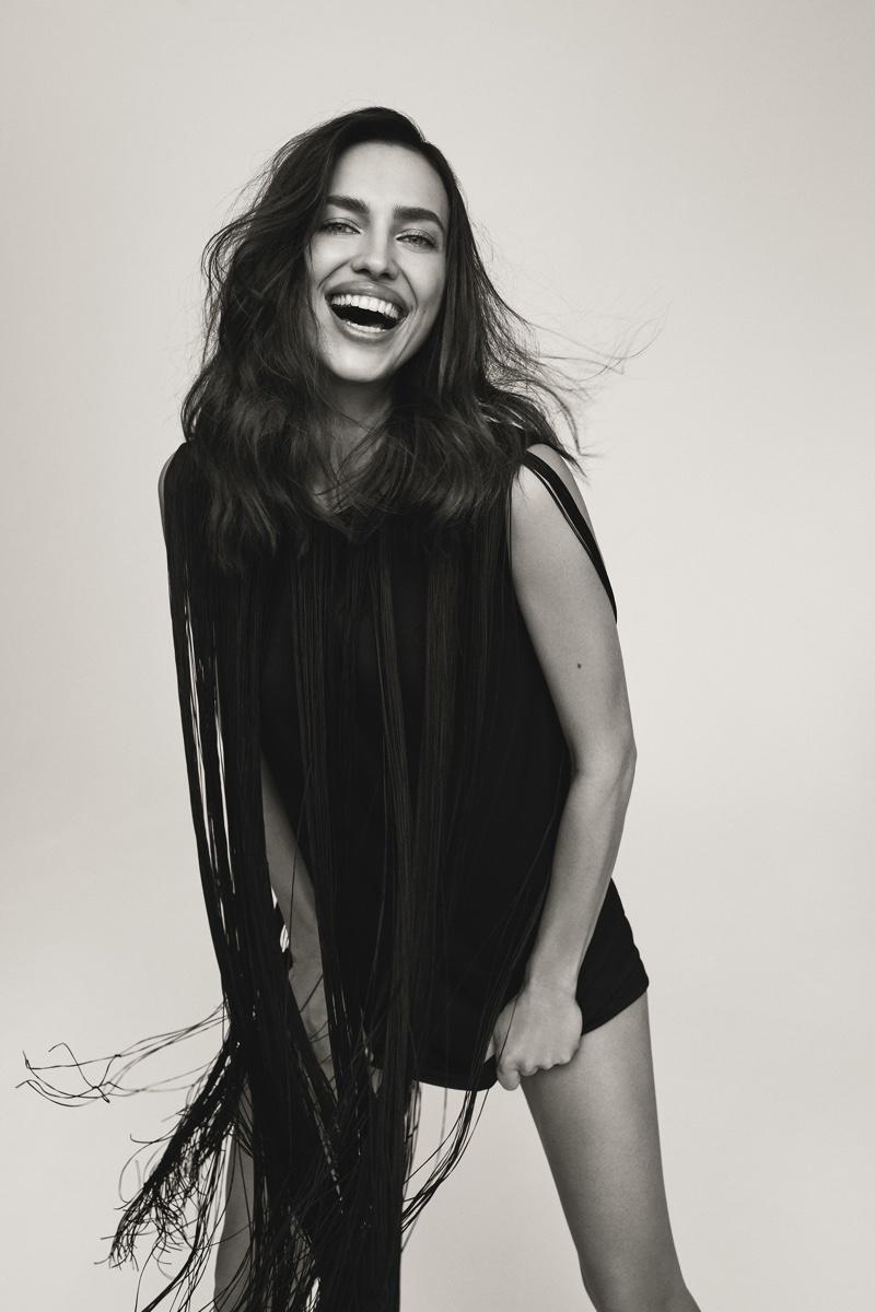Supermodel Irina Shayk is all smiles in Victoria's Secret Bombshell fragrance campaign.
