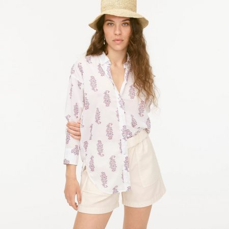 J. Crew Relaxed-Fit Cotton Voile Shirt in Budding Branch Print $79.50