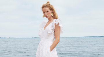 J. Crew Ruffle-Sleeve Eyelet Maxi Dress in White $218