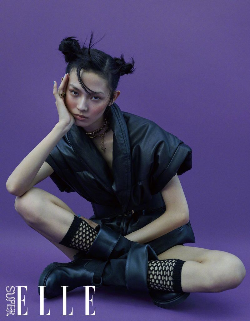 Jiali Zhao Wears Cool Girl Styles for ELLE China