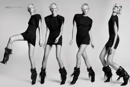 Karolina Kurkova Captivates in Black and White for L'Officiel Italy