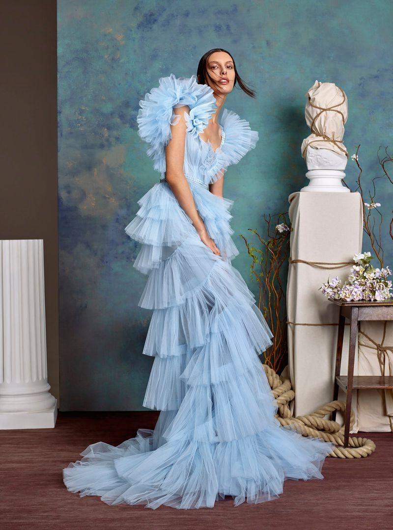 Kate King Models Enchanting Gowns in Harper's Bazaar Arabia
