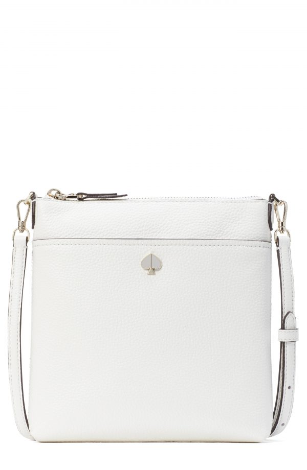 Kate Spade New York Small Polly Leather Crossbody Bag - White
