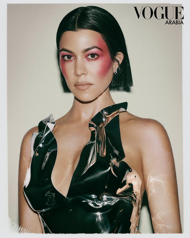 Kourtney Kardashian Is Ready for Her Closeup in Vogue Arabia