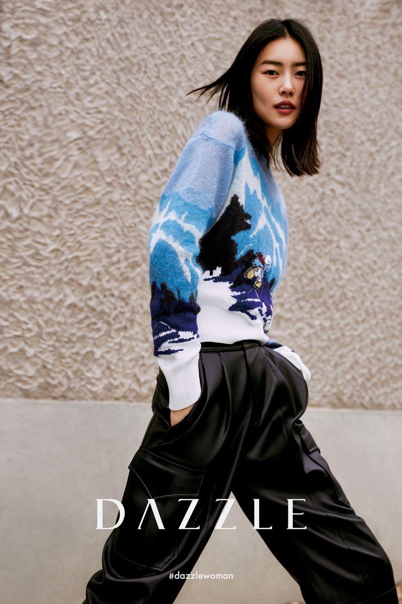Model Liu Wen fronts Dazzle fall-winter 2020 campaign.
