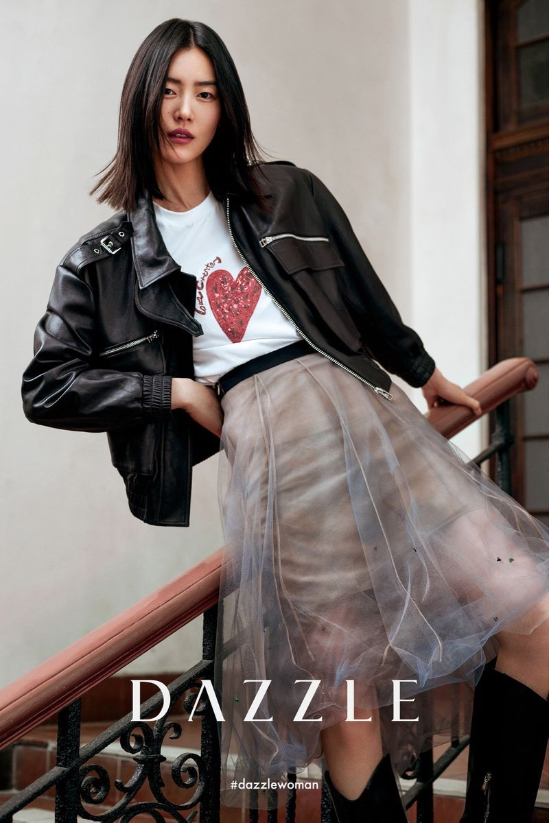 Striking a pose, Liu Wen appears in Dazzle fall-winter 2020 campaign.
