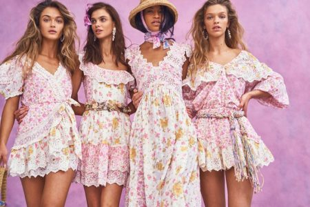 Dasha, Austria, Victoria, Clare Pose in LoveShackFancy Summer 2020 Dresses