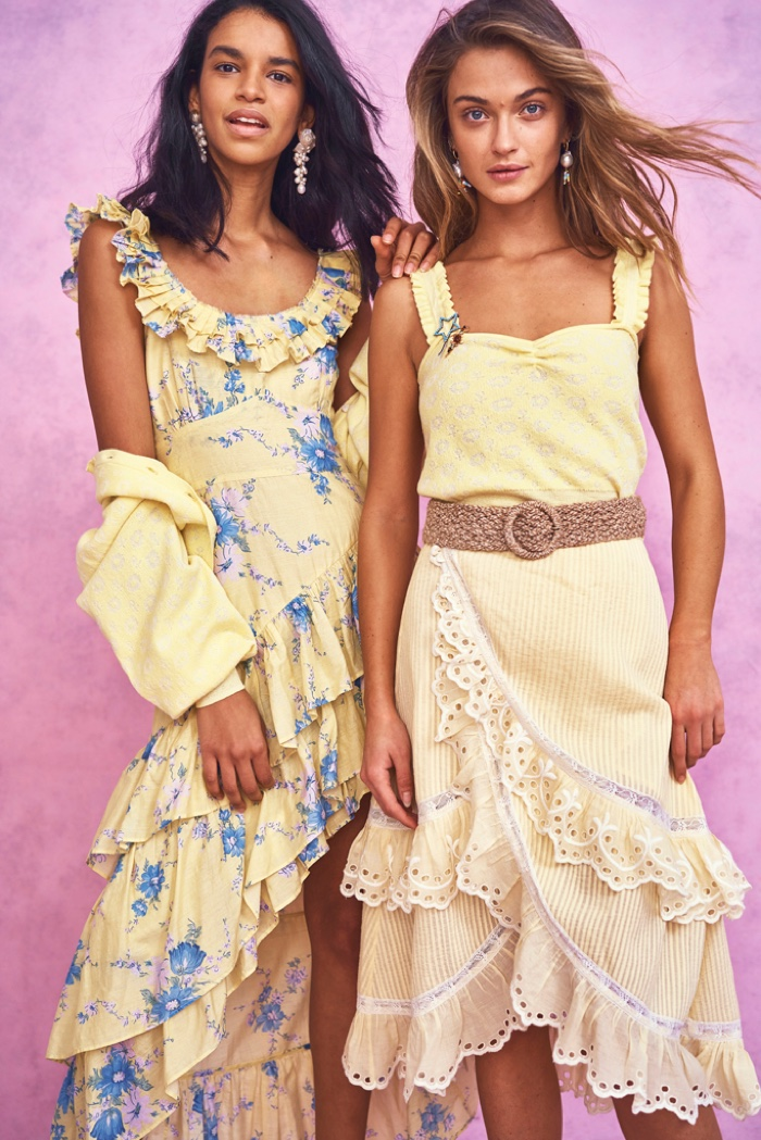 Sunny styles ahead from LoveShackFancy's summer 2020 collection.