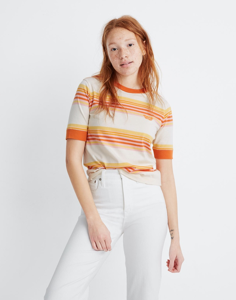 Madewell x Free & Easy Embroidered Relaxed Tee $55