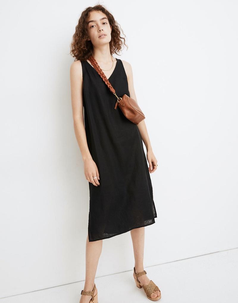Madewell Linen-Blend V-Neck Tank Dress $59.50