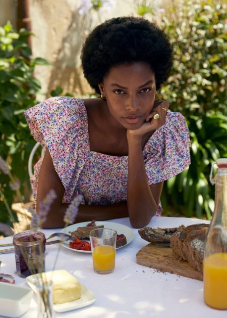 Mango Ruffled Floral Dress.