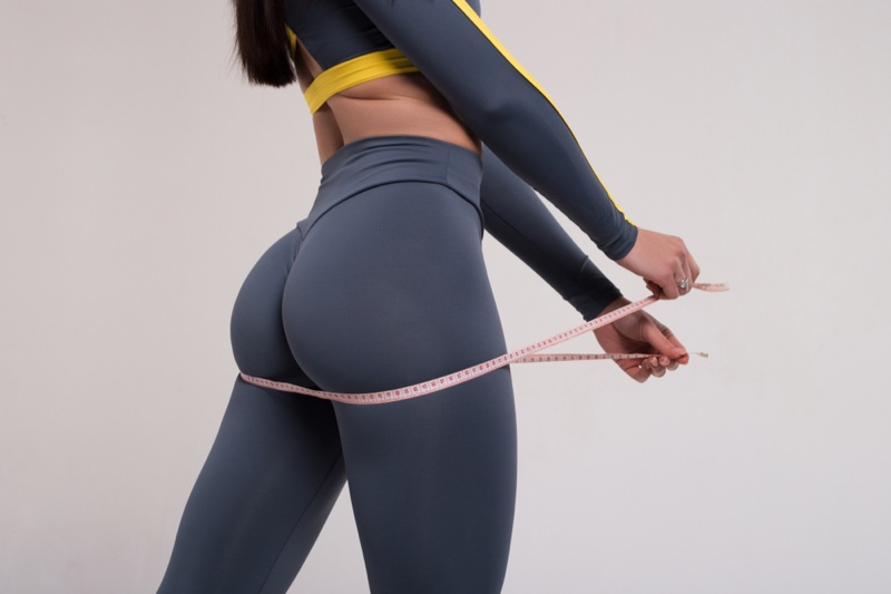 Measuring Tape Butt Figure Woman Fit