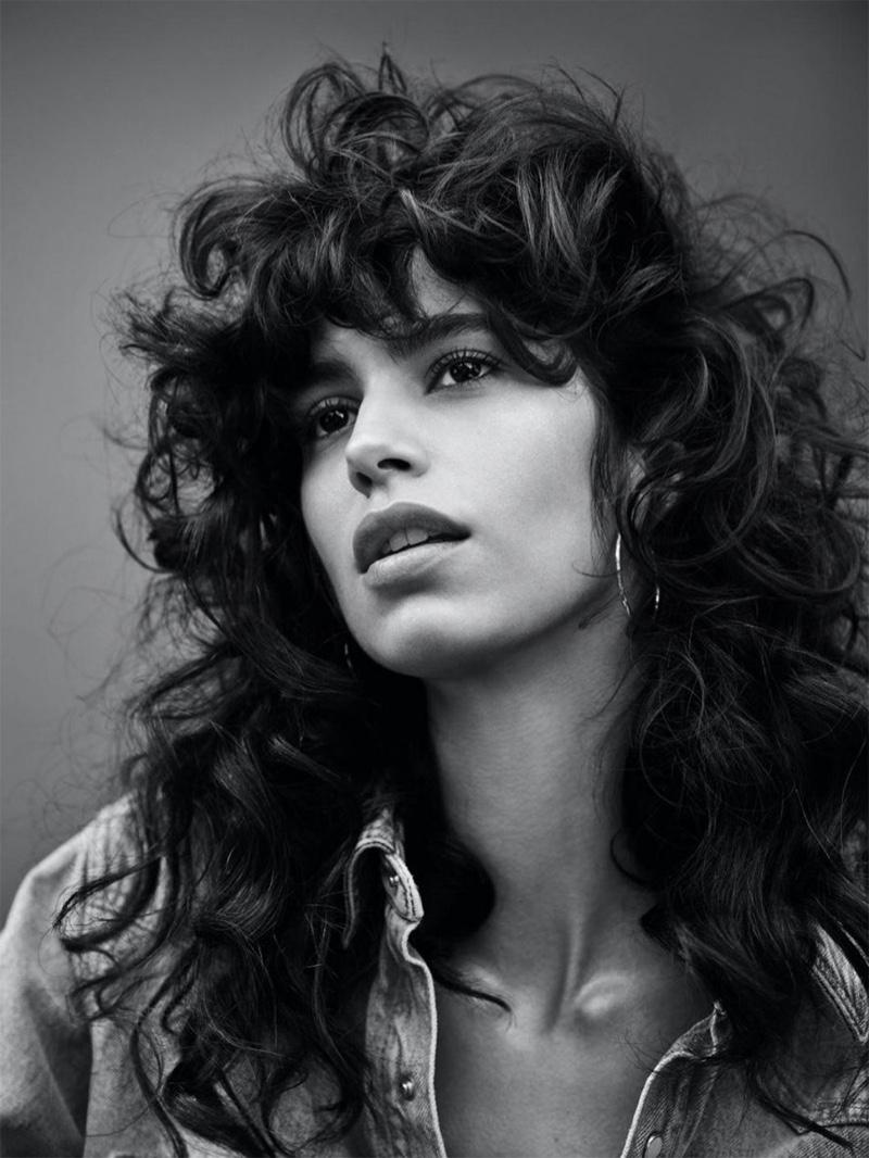 Mica Arganaraz Rocks Denim & Leather Looks for Vogue Paris