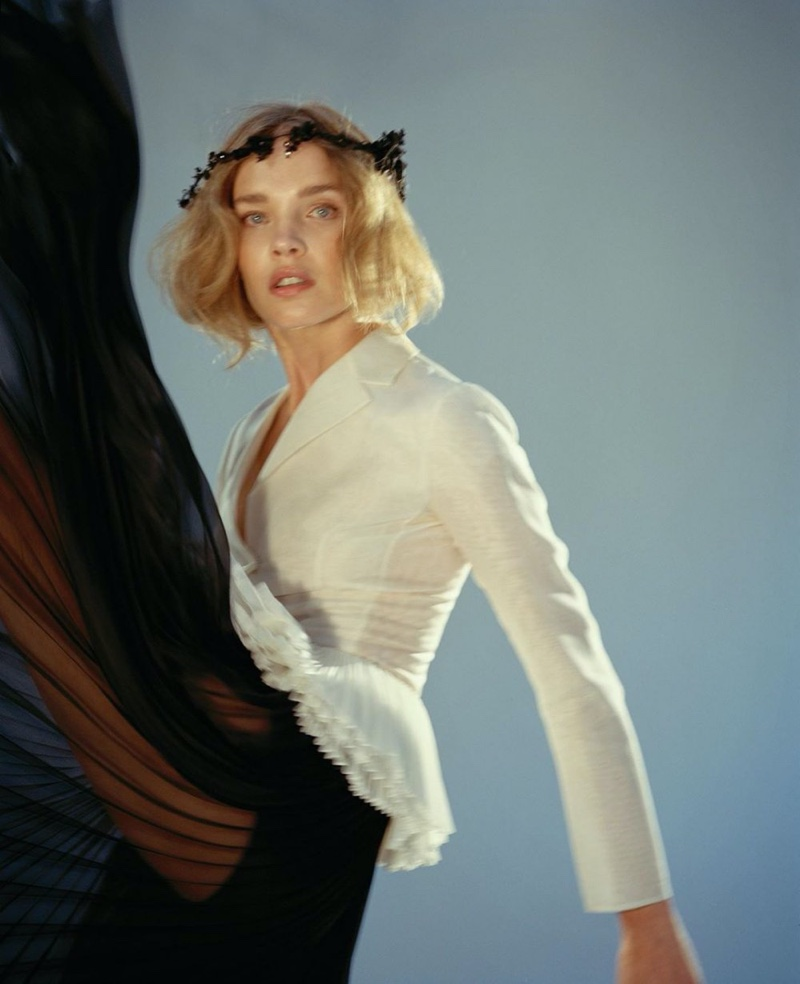 Natalia Vodianova Poses in Dior Archive Designs for Vogue China