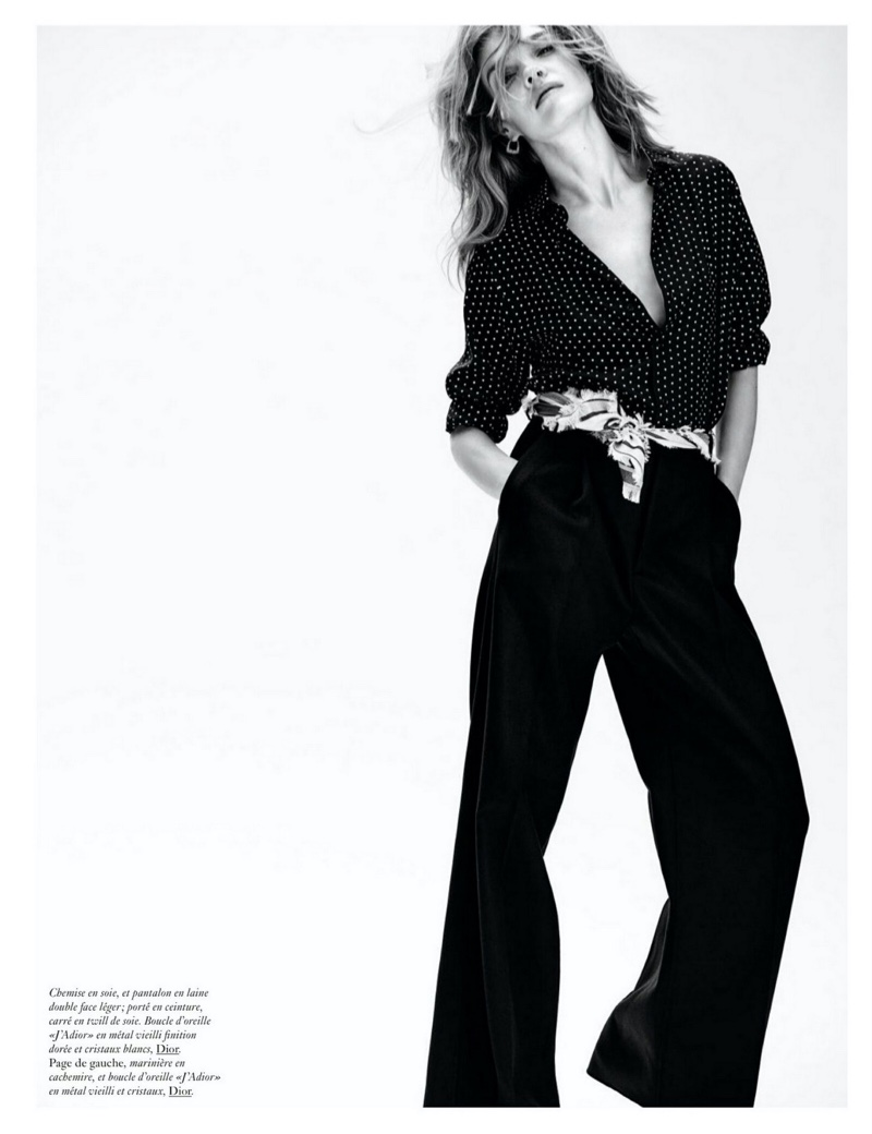 Natalia Vodianova Models Chic Dior Looks for Vogue Paris