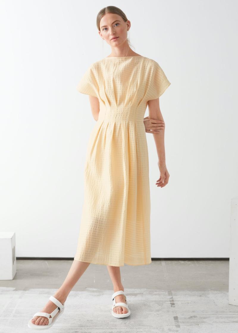 & Other Stories Gathered Waistline Midi Dress $99