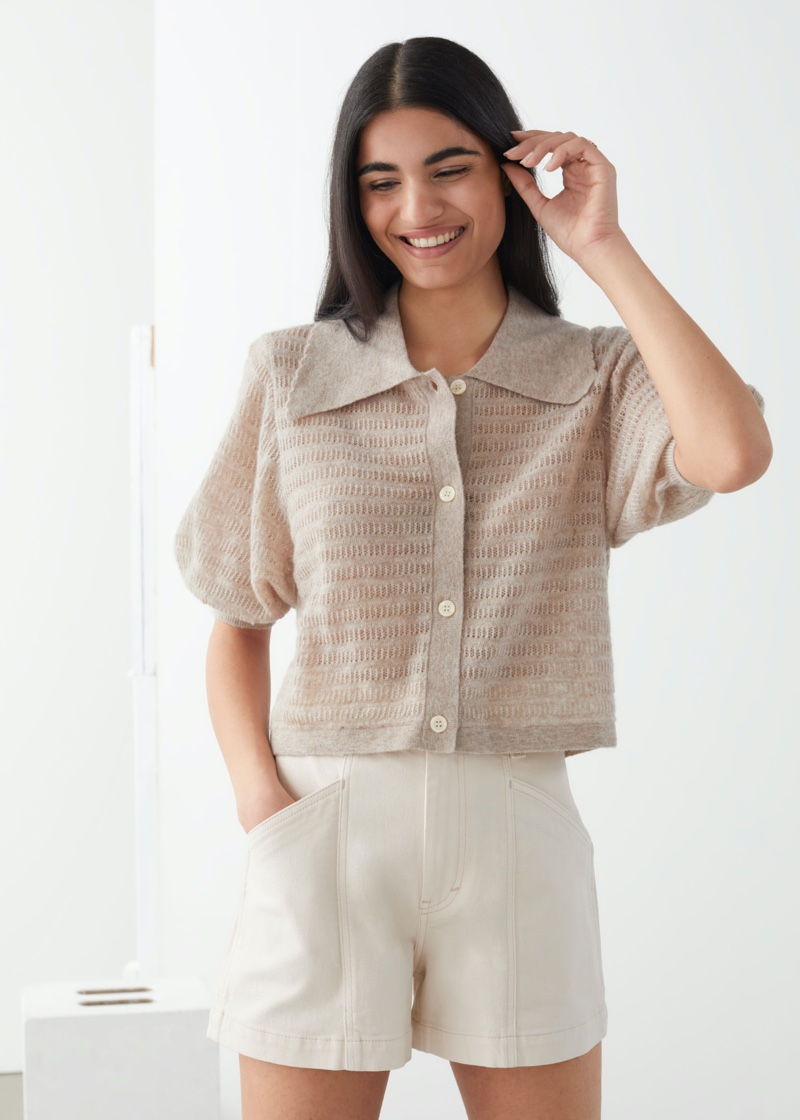 & Other Stories Knitted Alpaca Blend Cardigan $89