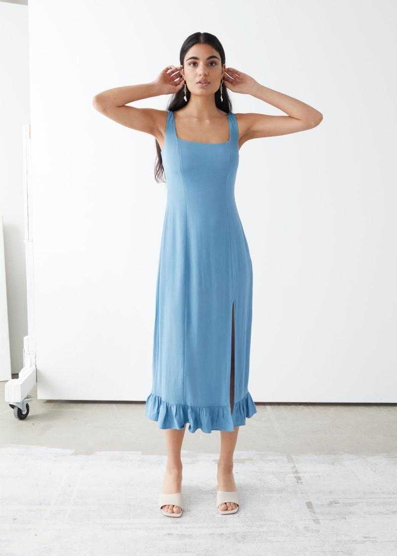 & Other Stories Ruffle Hem Midi Dress $119