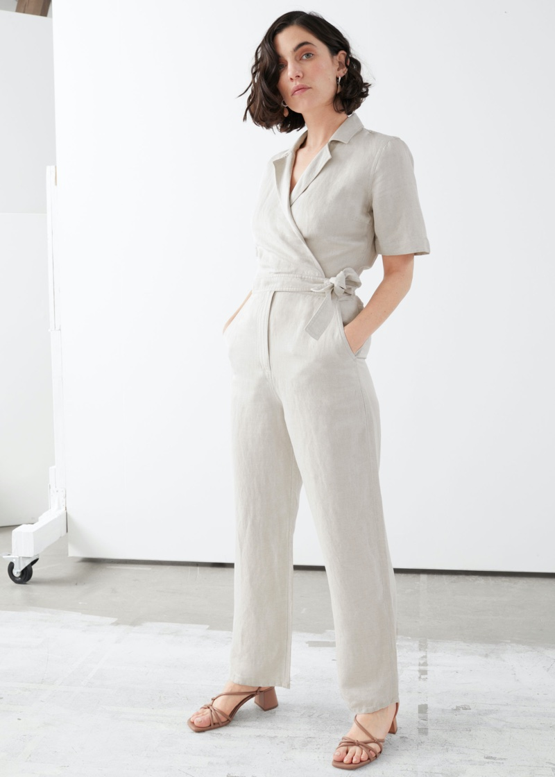 & Other Stories Short-Sleeved Wrap Jumpsuit $99