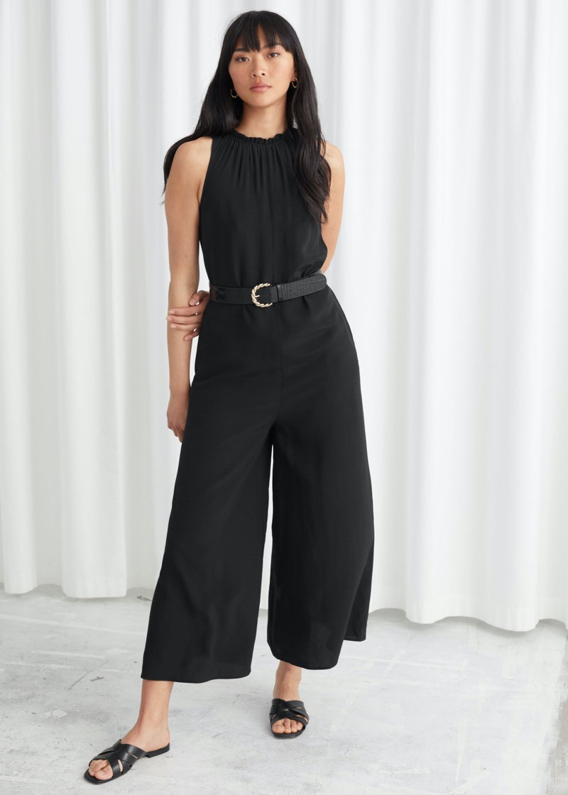 & Other Stories Sleeveless Flared Jumpsuit $99