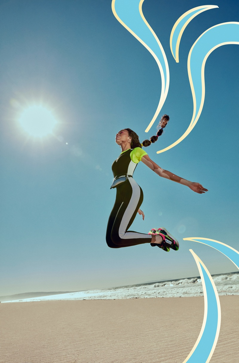 PUMA sets its Mile Rider sneaker campaign at the beach.