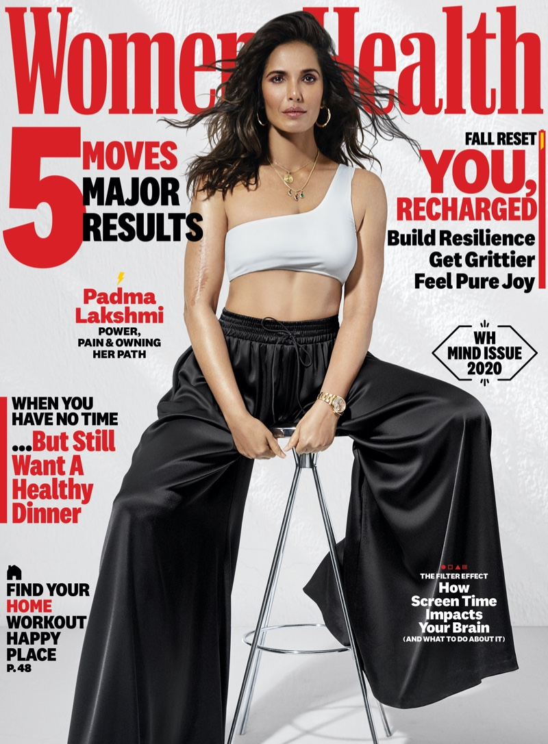 Padma Lakshmi on Women's Health September 2020 Cover.