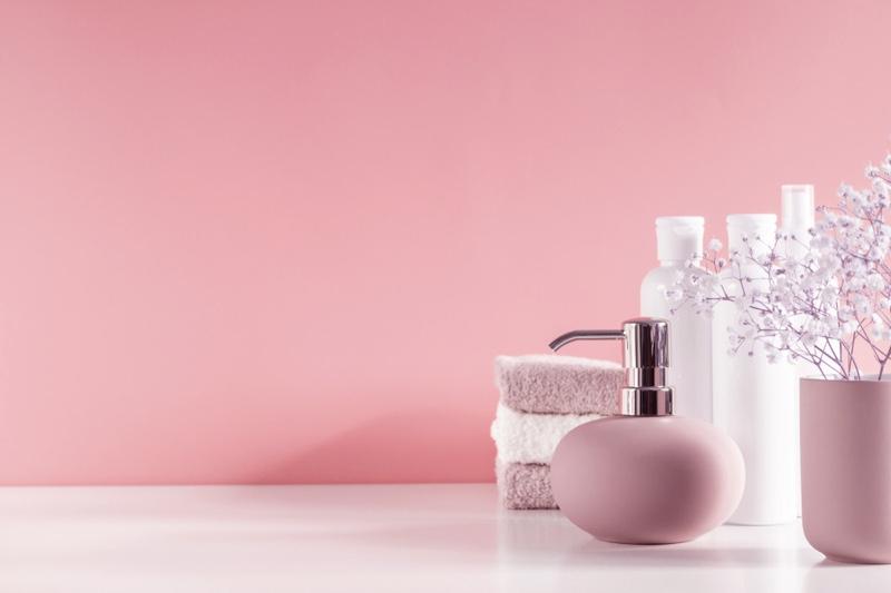 Pink Organized Bathroom Products