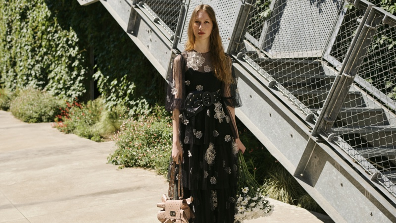 Romantic designs stand out in RED Valentino fall-winter 2020 campaign.