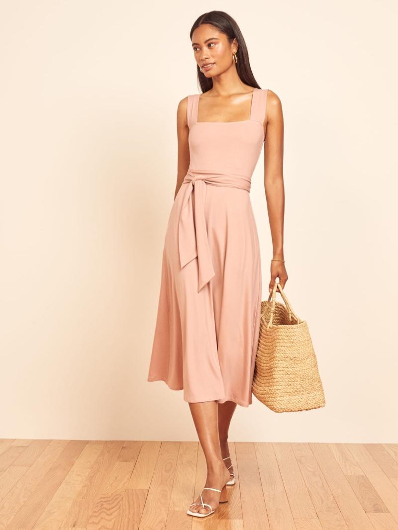 Reformation Helina Dress in Blush $118