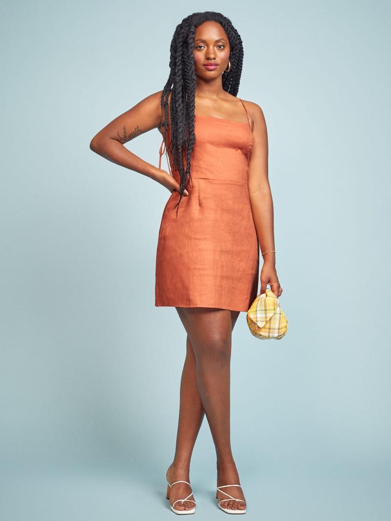 Reformation Jennica Dress in Salmon $178