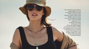 Regitze Christensen Poses in Desert Neutrals for ELLE Italy