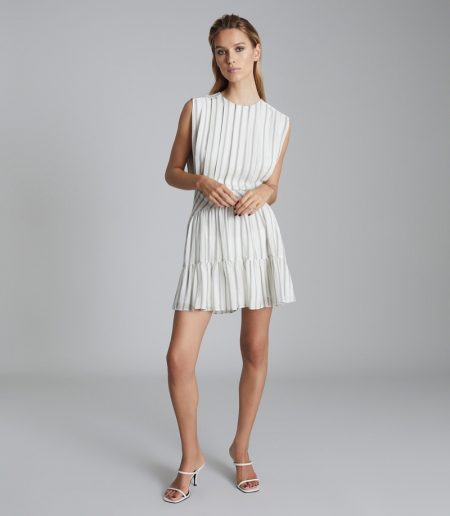 Reiss Sofia Striped Mini Dress $345