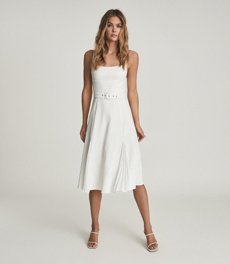Reiss Tamsyn Belted Midi Dress $445