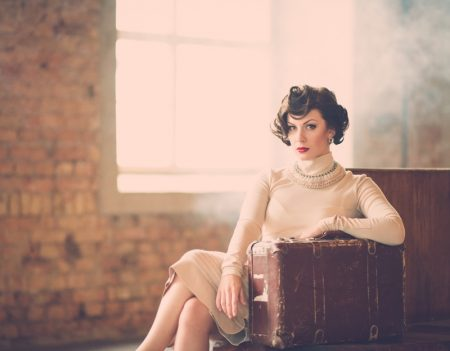 Retro Woman Well Dressed Short Curly Hair