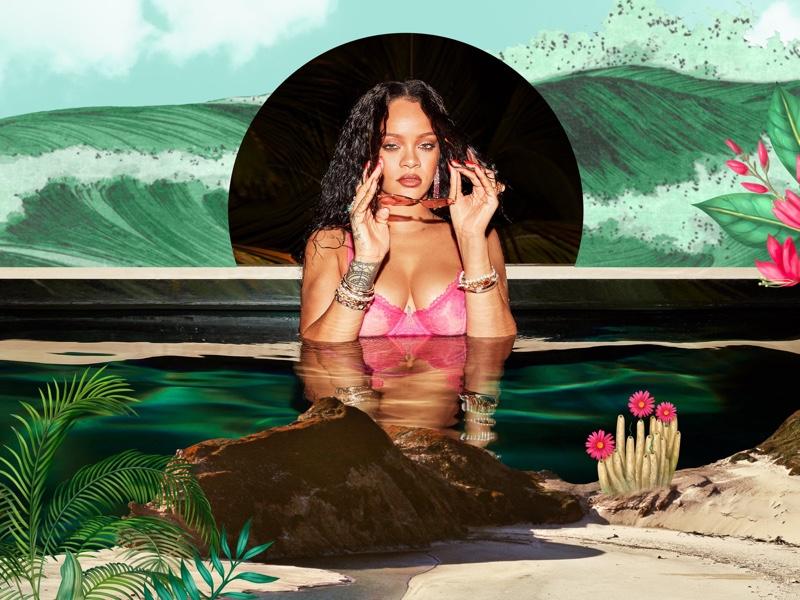 Rihanna stars in Savage x Fenty High Summer 2020 lingerie campaign.