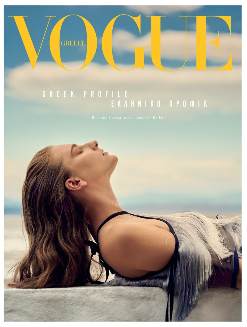Ros Georgiou Poses in Relaxed Summer Styles for Vogue Greece