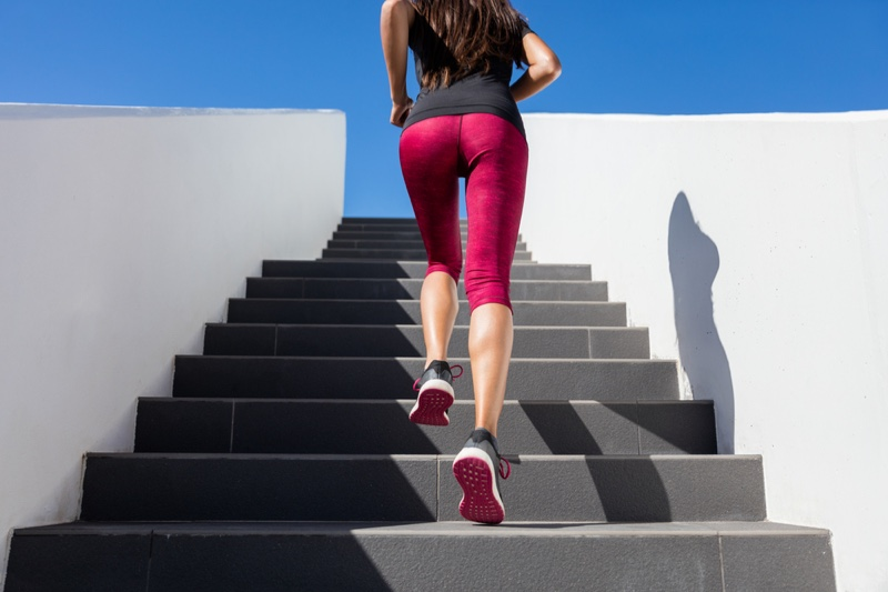 Running Woman Stairs Butt Workout Active