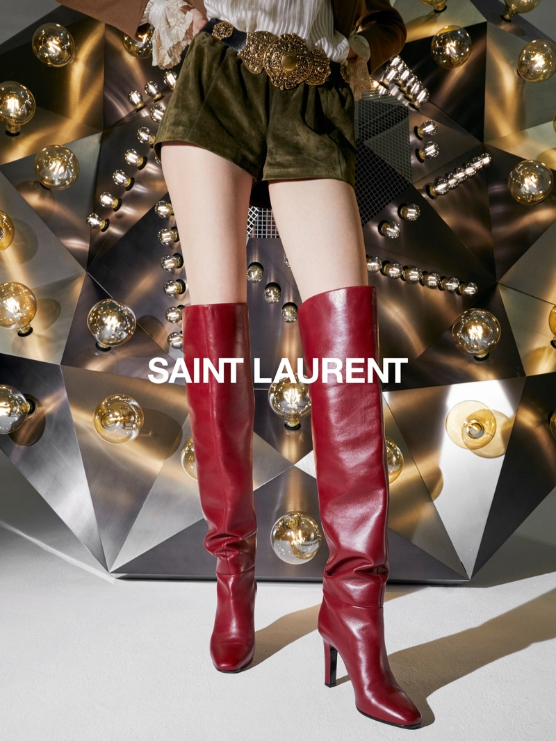 Saint Laurent focuses on boots for fall 2020 campaign.