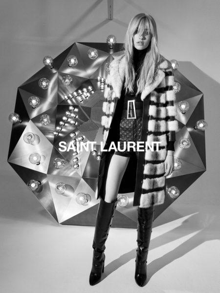 Grace Hartzel appears in Saint Laurent fall 2020 campaign.