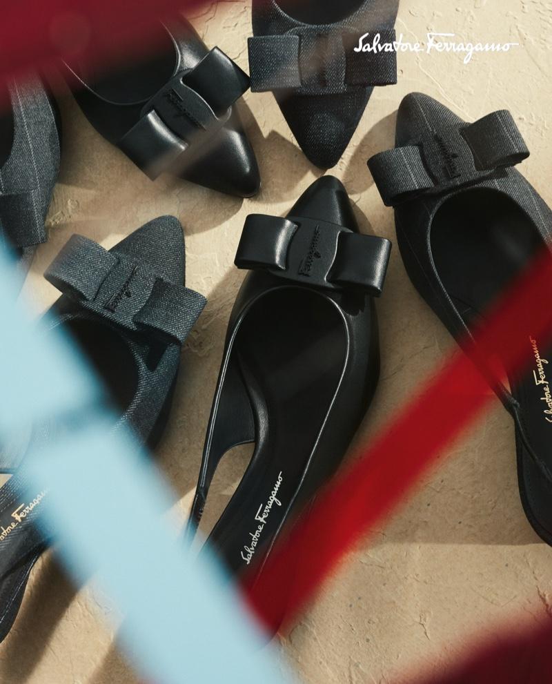 Salvatore Ferragamo focuses on footwear for fall-winter 2020 campaign.