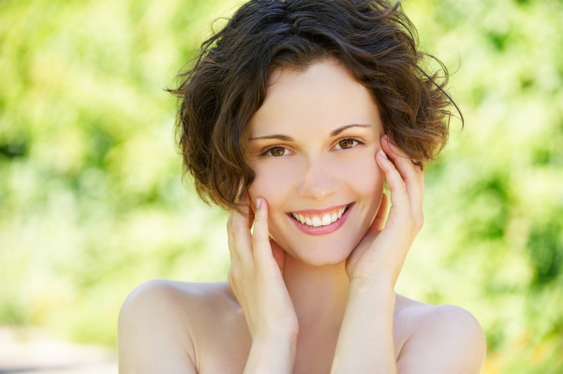Smiling Woman Clear Skin Beauty
