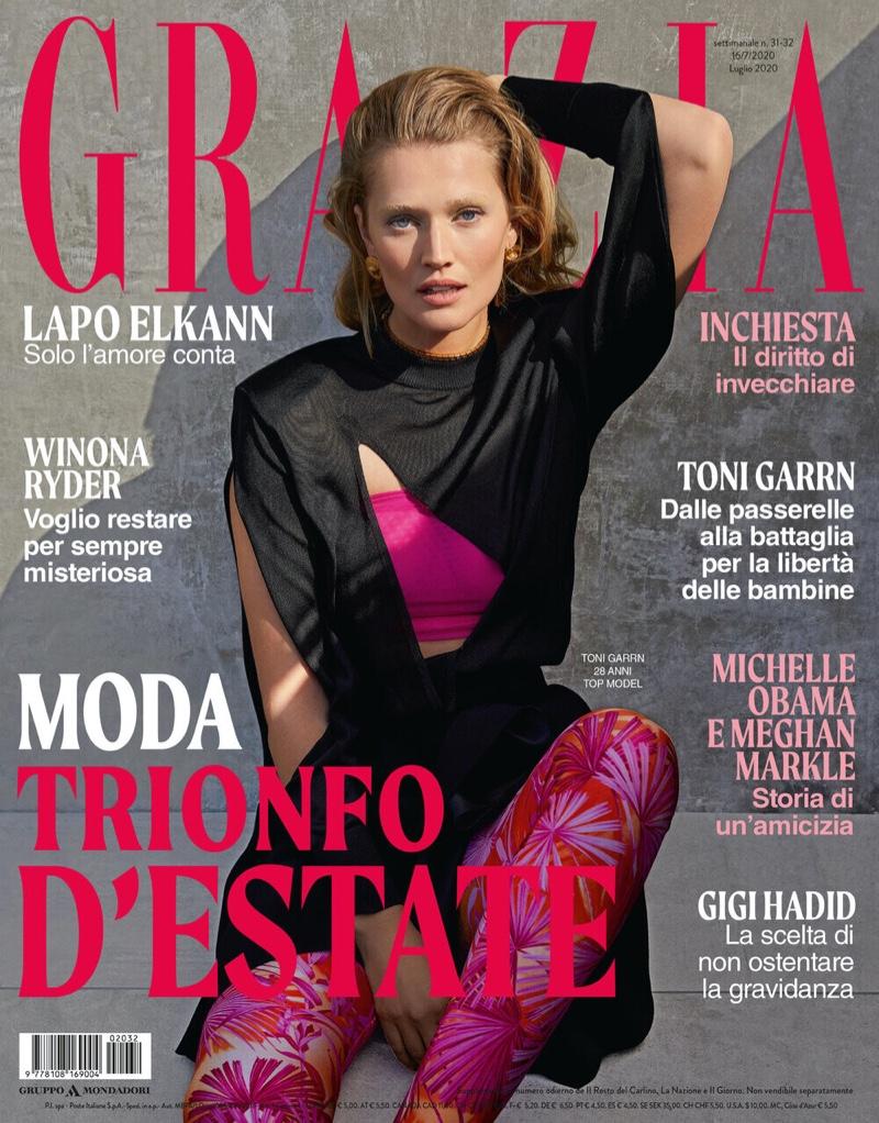 Toni Garrn on Grazia Italy July 2020 Cover