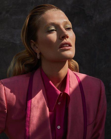 Toni Garrn Poses in Elegant Fashions for Grazia Italy