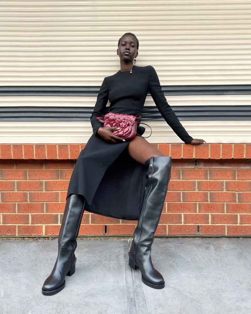Adut Akech models for Valentino Empathy fall-winter 2020 campaign.