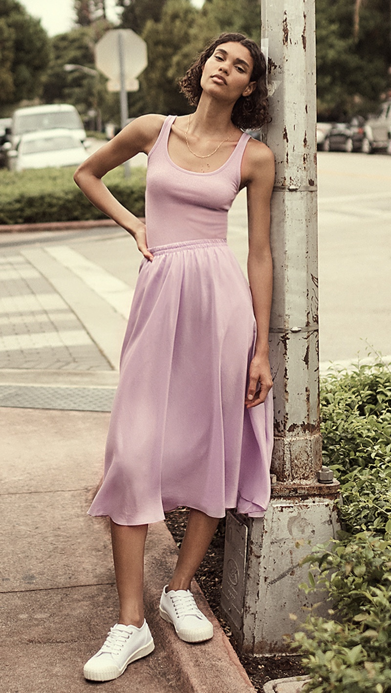 Vince Scoop Neck Tank $65 and Gathered Pull On Skirt $365