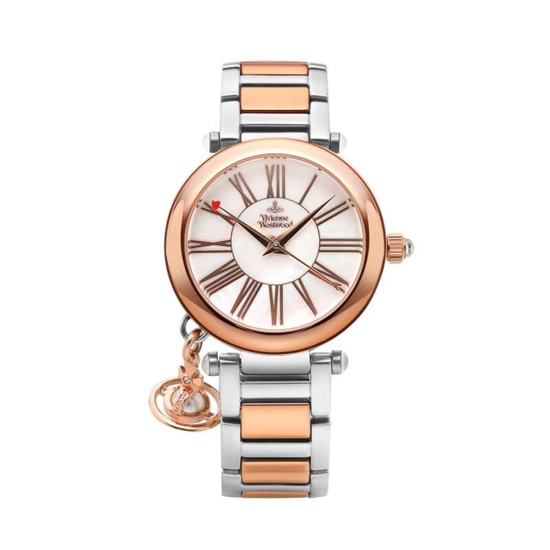 Vivienne Westwood Rose Gold Silver Watch
